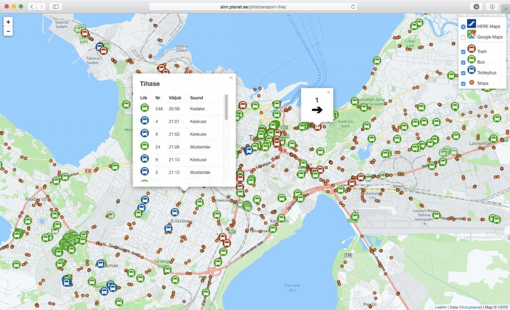 Tallinna ühistransport reaalajas